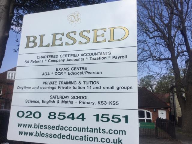 Blessed Ltd Signage